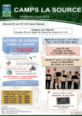 Affiche newsletter Avril 2019