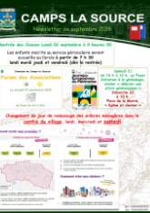 Affiche newsletter septembre 2019